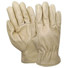 Red Steer Gloves Grain pigskin Lined Driver Gloves 5670