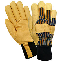 Red Steer Gloves HeatSaver thermal lined grain pigskin 59260
