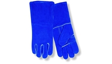 Red Steer Gloves Blue suede cowhide Welding Gloves 6850K-L