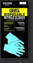 Red Steer Gloves Poly bag 10 Pack blue nitrile disposable 719-10