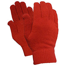 Red Steer Gloves Acrylic magic stretch Cotton Chore Knit 8160