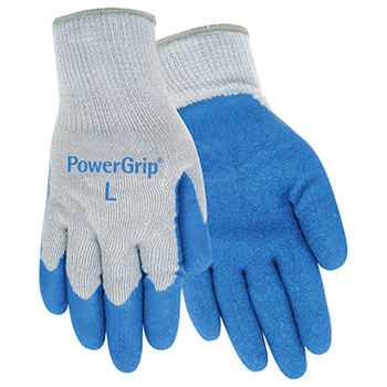 Red Steer Gloves PowerGrip Blue textured rubber palm A300