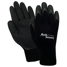 Red Steer Gloves Insulated PowerGrip black textured rubber A301B
