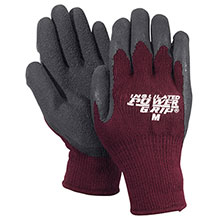 Red Steer Gloves Insulated PowerGrip black textured rubber A301BG