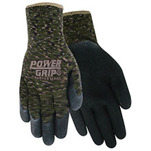 Red Steer Gloves PowerGrip Camo Knit Dipped Gloves A302