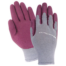 Red Steer Gloves Flowertouch Womens burgundy textured rubber A305