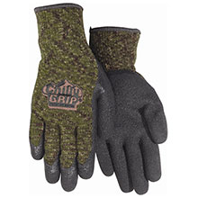 Red Steer Gloves Chilly Grip Camo Knit Dipped Gloves A313