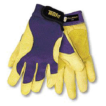 John Tillman & Co Mechanics Gloves Large Blue Gold TrueFit Premium Full 1480L