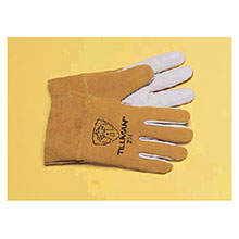 John Tillman & Co Mig Tig Gloves Medium Pearl Kidskin Palm Bourbon Split 20M