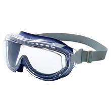 Uvex UVXS3400X by Honeywell Flex Seal Indirect Vent Over The Glasses Goggles With Navy Frame, Clear treme Anti-Fog Lens And Neoprene Headband