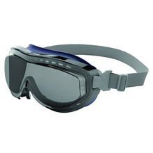 Uvex UVXS3410X by Honeywell Flex Seal Indirect Vent Over The Glasses Goggles With Navy Frame, Gray treme Anti-Fog Lens And Neoprene Headband
