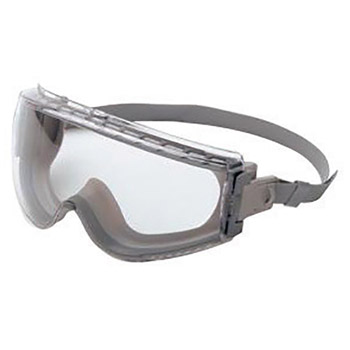Uvex UVXS3960C by Honeywell Stealth Impact Chemical Splash Goggles With Gray Frame, Clear treme Anti-Fog Lens And Neoprene Headband
