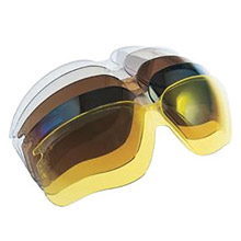 Uvex UVXS6910X by Honeywell SCT-Vermilion Polycarbonate Replacement Lens With treme Anti-Fog, Anti-Scratch, Anti-UV And Anti-Static Coating For Use With Genesis Safety Glasses