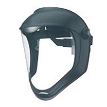 Uvex UVXS8510 by Honeywell Bionic Black Matte Hard Coated Polycarbonate Dual Position Headgear With Clear Anti-Fog Hardcoated Polycarbonate Faceshield And Built-In Chin Guard