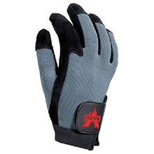 Valeo Anti-Vibration Mechanics Gloves Small Blue Black Split Leather Full V425-S