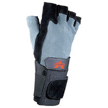 Valeo Mechanics Gloves Medium Blue Black Fingerless Split Leather V430-WS-M