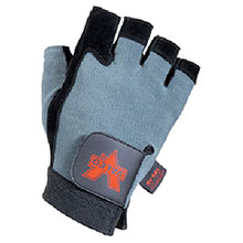 Valeo Mechanics Gloves X Large Blue Black Fingerless Split Leather V430-XL