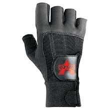 Valeo Mechanics Gloves Medium Black Pro Fingerless Full Leather V440-M