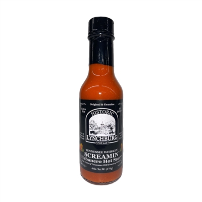 Historic Lynchburg Tennessee Whiskey Screamin' Habanero Hot Sauce