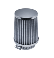 "UNIVERSAL FILTER VW Bug Chrome Pod Air Cleaner  VW Carb 2 5/8""Neck 5"" Tall  AC129745-258"