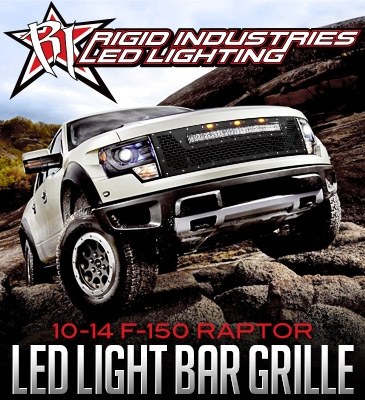 RIGID INDUSTRIES LED GRILL :2010-2014 F-150 RAPTOR WITH RDS LIGHT
