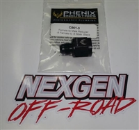 (DISCONTINUED) -8 FEMALE TO -6 MALE REDUCER PHENIX BLACK 2PC