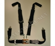 "Latest Rage  2"" 4 point Latch & Link Seat Belt w/ Pads"