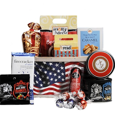 Proud to Be American Gift Basket