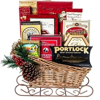 Tavern's Holiday Sled Gift Basket