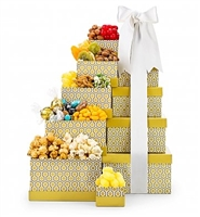 Classic Golden Snack Gift Tower