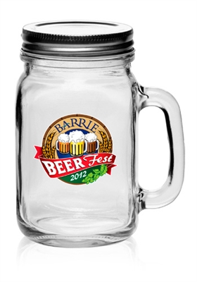 Glass Mason Jar with Lid