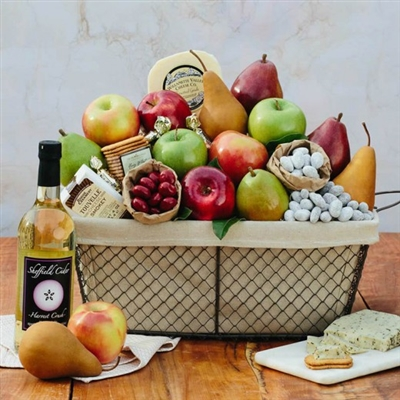 Cheese & Fruit Gift Basket