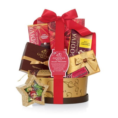 Godiva Holiday Treasure Gift Basket
