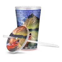 Tumbler with Full Color Logo Insert