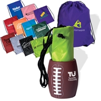 Football Can Holder with Drawstring Tote