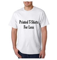 VALUE! Printed White 100% Cotton T-Shirt