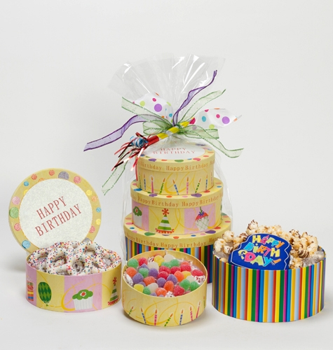 Happy Birthday Gift Tower By Gourmetgiftbaskets Com: Happy Birthday Gift Tower