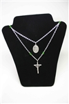 Ouf Lady of Guadalupe Cross-Medal Necklace