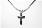 Pendent Hematite Cross With Corps