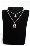 Holy Spirit & First Communion Medal Necklace with Swarovski Elements