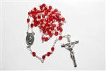 Red Crystal Rosary