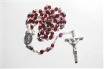 Dark Red AB Crystal Rosary