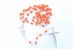 Orange Crystal Rosary