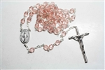 Peach Crystal Rosary