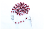 Red Metal Crystal Rosary
