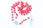 Red Czech Glass Rosary