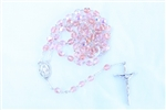Pink AB Czech Glass Rosary