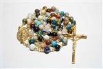 Mix Stones Gemstone Gold Toned Rosary