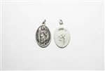 Our Lady Of Prompt Succor Oxidized Silver Toned Medal