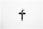 Sterling Silver Cross with Black Onyx